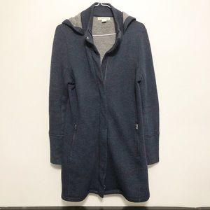 AKINI Long Length Hooded Sweater Jacket